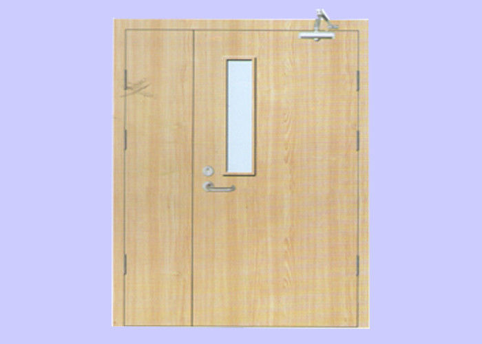 60 min Mother And Son Leaf 50 mm Veneered Wood Fire Door With Steel Frame